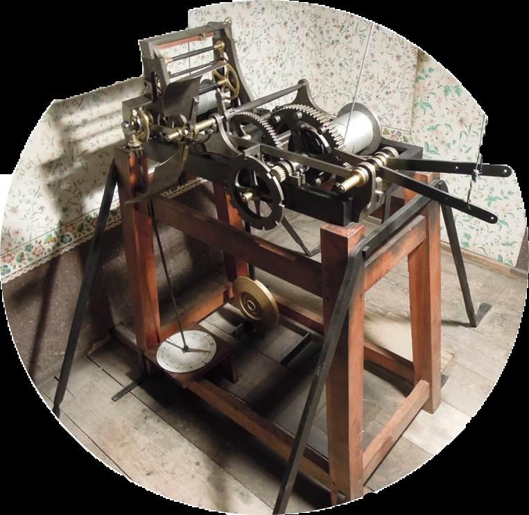 mécanique de la grande horloge du château