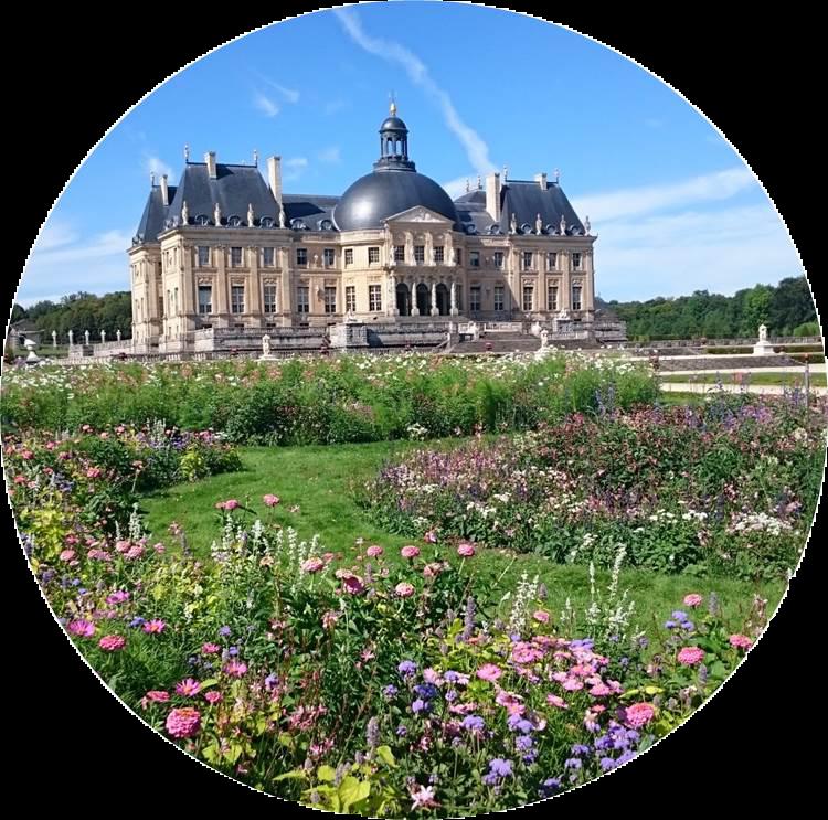parterre de fleur du jardin de Vaux-le-Vicomte